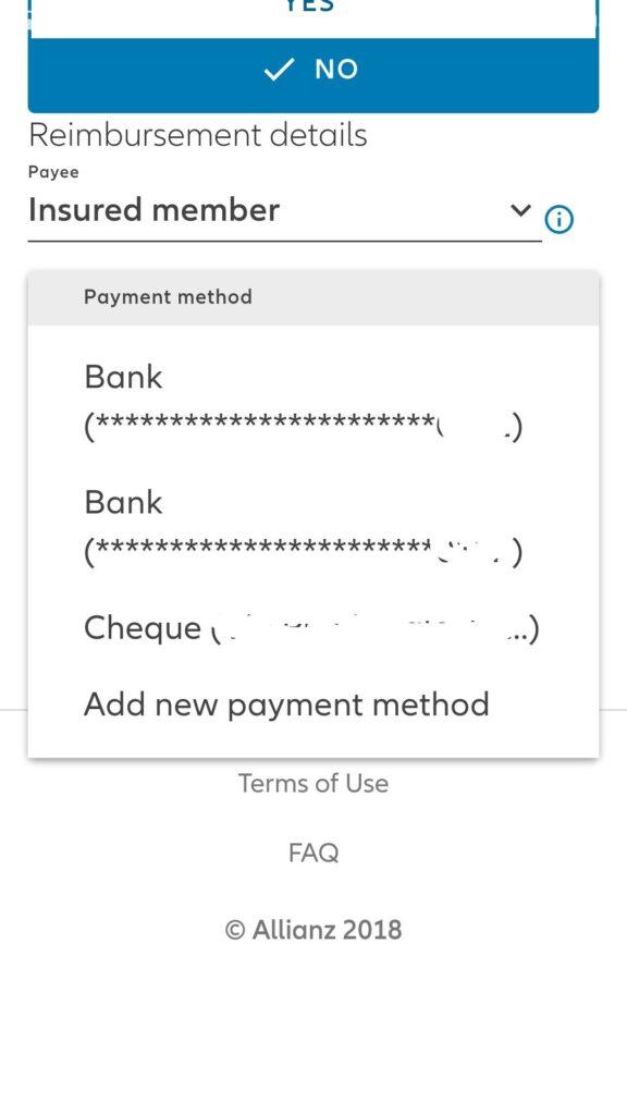 Metodo di pagamento rimborso