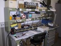 1010 - Verifica e test elettronica al banco del Duss - Gen-2001.JPG